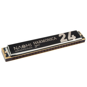 24 Holes Key of C Tremolo Harmonica Mouth Organ Best Choice for Beginner