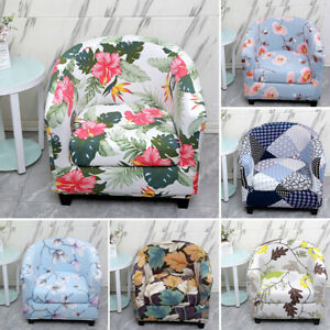Stretch Club Chair Slipcovers Arm Chair Cover Bar Tub Barrel Seat Covers Floral