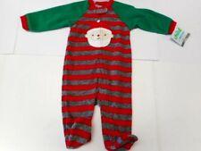 Pajamas Child of Mine Santa Sleeper Baby Boys Footsie Pjs Baby girls 3-6 Mos