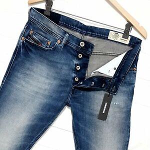 ⭐ mens Diesel Tepphar 081AQ Slim-carrot stretch distressed denim jeans W31 L32