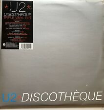 """U2  DISCOTHEQUE TRIPLE 12"""" single SET with POSTER   UNPLAYED RARE 1997"""
