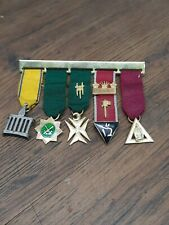 More details for antique silver gilt & enamel masonic allied degrees miniature small jewels