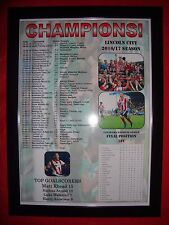 Lincoln City National League champions 2017 - framed print