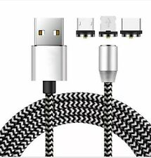 Magnetic Fast Charging Cable Cord USB+W/ LED Type-C+Light+Micro USB Adapter  USA