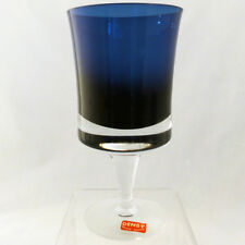 """DENBY MIRAGE MIDNIGHT BLUE Wine 5.75"""" tall NEW NEVER USED made in Milnor Sweden"""