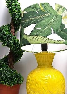 NEW Tommy Bahama Fabric Table Lamp Shade Leaf Tropical Beach Palm Lampshade Only