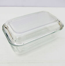 Vintage Retro 1960s French Arcoroc Glass Butter Dish