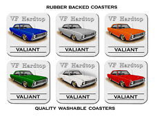 VALIANT VF  HARDTOP  COUPE  V8  REGAL    SET OF 6    RUBBER DRINK  COASTERS
