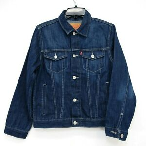 New Levis Kids Big Boys Classic Denim Trucker Jacket Coat Size Large / 12-13 Yrs