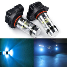 2X Super Bright 9006 HB4 8000k 100W LED Fog Light Lamps Bubls Driving Ice Blue