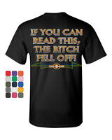 If You Can Read This, The Bitch Fell Off T-Shirt Funny Biker Tee Shirt