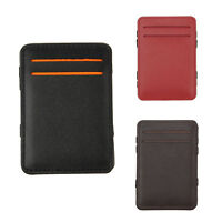 Mens Magic Flip Wallet Money Clip Bifold Slim Credit Card Holder Purse A7M7