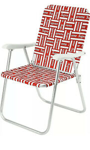 SS20 Supreme Lawn Chair Red - Brand New in Box