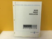 Hp / Agilent 08620-90093 8620C Sweep Oscillator Operating + Service Manual