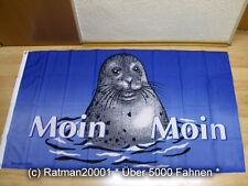 Fahnen Flagge Moin Moin Seehund - 90 x 150 cm