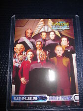 STAR TREK DEEP SPACE NINE MEMORIES PROMO CARD MINT NEUF SKYBOX 1999