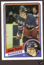1984-85 Topps Hockey James Patrick #112 Rangers NM/MT