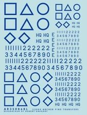 Archer AR72086BL 1/72 Dry Transfers of WWII British Squadron Signs-Junior (Blue)