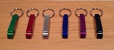 Qty 1- Key Chain Bottle and Can Opener - Black, Blue, Red, Silver, Green, Purple