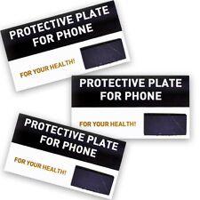3 Protective Plates Rectangle Polished Shungit