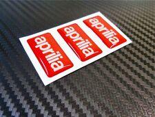 3 ADESIVI APRILIA RESINATI ADESIVO RESINATO APRILIA 3D STICKERS 3X1,5 CM COD.08