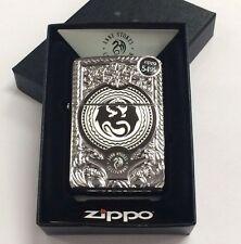 Zippo Anne Stokes Dragon Armor High Polish Chrome Windproof Lighter 28962 New