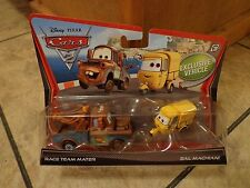 2010 MATTEL--DISNEY'S CARS--RACE TEAM MATER & SAL MACHIANI CAR SET (NEW)
