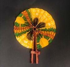 Sale! Sale! *Portable* Sara African Ankara Print Pattern Folding Hand Fan l