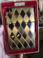 Marathon Slide A Lite Original Box Deco Cigarette Case & Lighter In One.