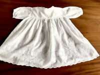 Antique Childs Hand Embroidered LACE White Cotton CHILDS / DOLLS DRESS