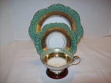 EBERTHAL W GERMANY Bavarian Quality Porcelain 3 Pc TRIO Cup/Saucer/Dessert #2317