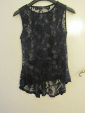 Primark Floral Lacey See Through Sleeveless Top in Size 12