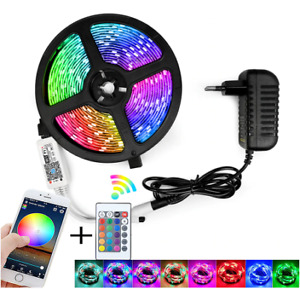 RGB LED Strip Light SMD 2835 5M RGB Flexible Stripe Lamp IR WIFI Controller