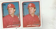 FREE SHIPPING-MINT-1989 Cincinnati Reds Topps Baseball  #772 Ron Oester-2 CARDS