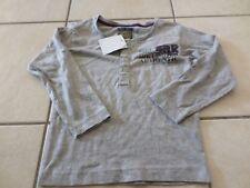 Tee shirt gris manches longues garçon 3 ans SRK  neuf(étiquette)