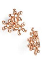 Ralph Lauren Rose Gold Tone Flower Cluster Clip Earrings $38 NEW