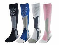 (3 Pairs) Compression Socks 20-30 mmHg Sports Calf Running Fitness Men's Women's