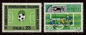 Italy Scott 1103-1104 Italian Football (Soccer) Federation 75th Anniv. MNH L1