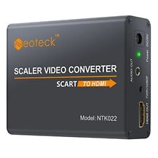 Neoteck Aluminum SCART To HDMI Converter 1080P SCART to HDMI Adapter  3.5mm Hea