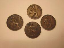 Coins British Antiques 1909 - 1919 Set Of 4 Souvenirs Collectibles #987