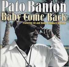 "PATO BANTON Baby Come Back PICTURE SLEEVE 7"" 45 rpm record + jukebox strip RARE!"