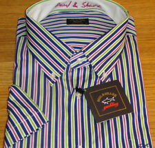 New Paul & Shark Short Sleeve Shirt size 4XL100% Cotton Great Must SEE WOW