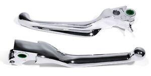 Brems Kupplungs Handhebel Chrom für Harley Softail Dyna V-Rod Hydraulisch Tourer