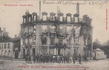 GUERRE 14-18 WW1 MEURTHE-ET-MOSELLE LUNEVILLE rue carnot-maison leclerc écrite