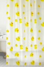 Shower Curtain With Rings Hooks Bathroom PEVA 180 x 180 CM Yellow Duck