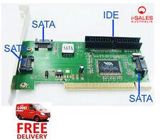 3 Ports SATA Serial ATA + 1 IDE I/O Controller PC Adapter PCI Card