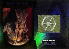 2016 Topps Star Wars Evolution Parche Carta Poggle The Lesser 04/25