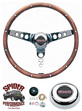 "1980-1987 Suburban Jimmy GMC pickup steering wheel 13 1/2"" CLASSIC WALNUT"