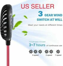 Portable USB Rechargeable LED Lazy Fan Hanging Neck Mini Cooling Sports Wear Fan