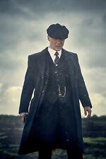 Peaky Blinders Black Waistcoat Pinstripe Stripe Tommy Shelby Style Vintage